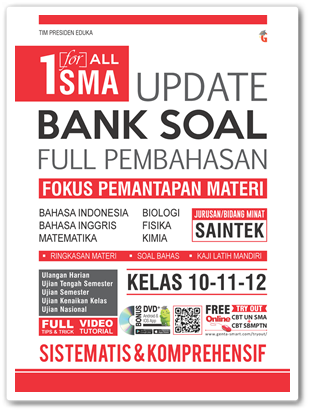 Buku One For All Update Bank Soal SMA SAINTEK